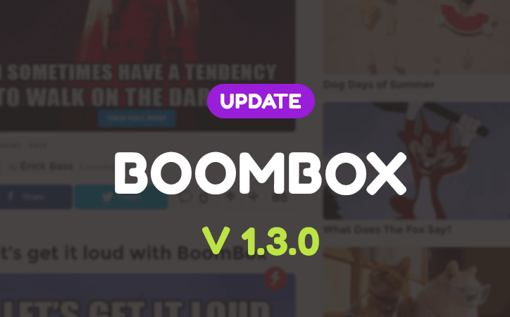 Update released for Boombox – V1.3.0