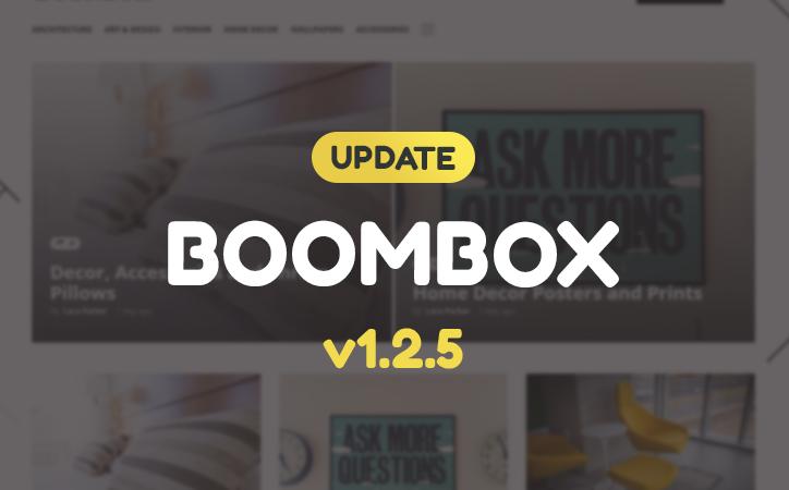 Update released for Boombox – V1.2.5