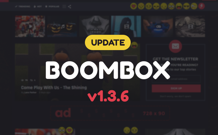 Update released for Boombox – V1.3.6