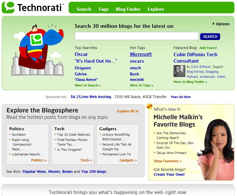 tag search by Technorati