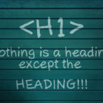 H1 heading - single or multiply