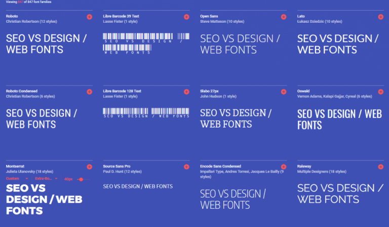 SEO VS DESIGN /Enter the webfont