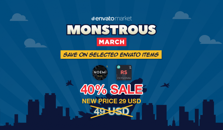 Monstrous March Started: 40% sale on RScard and Noemi