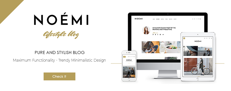 Noemi - best Word Press personal blog Theme